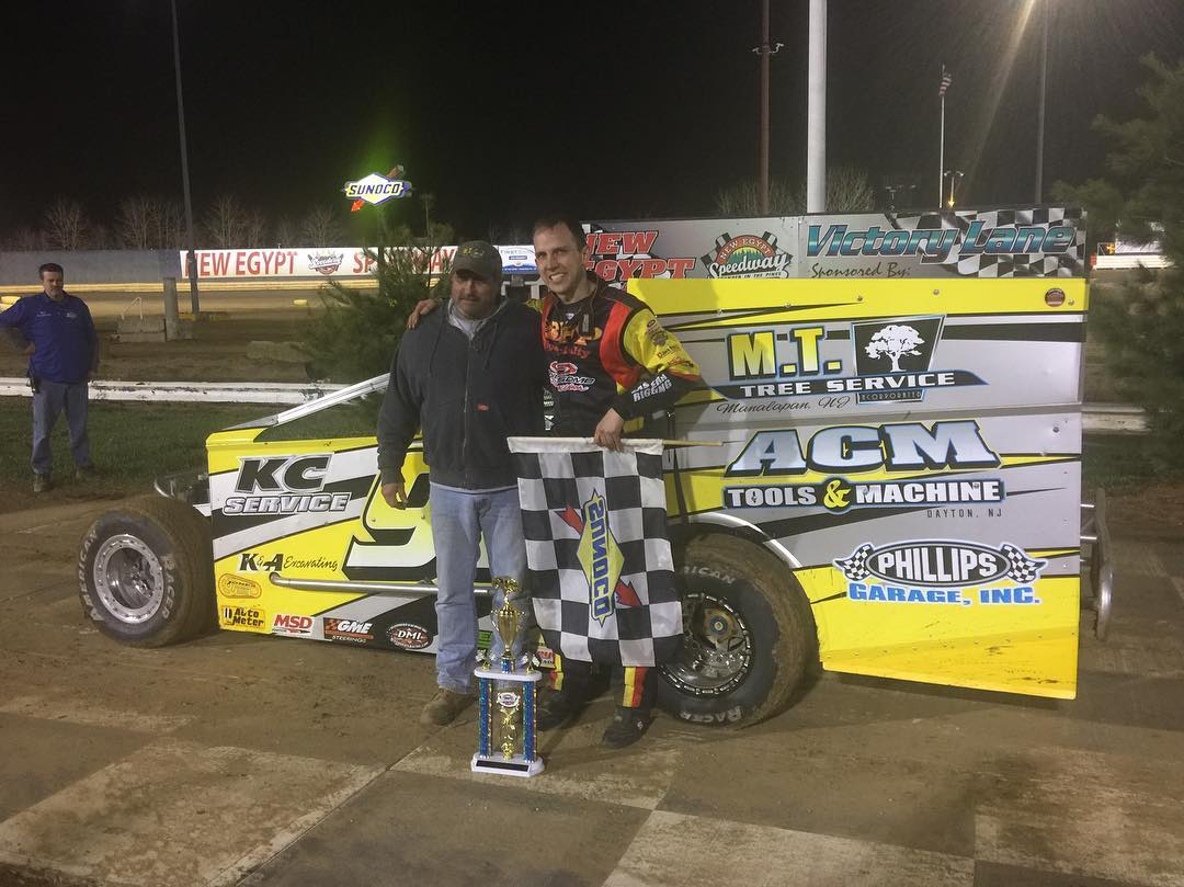 PAUCH IS VICTORIOUS AT NEW EGYPT SPEEDWAY'S 2018 SEASON OPENER
