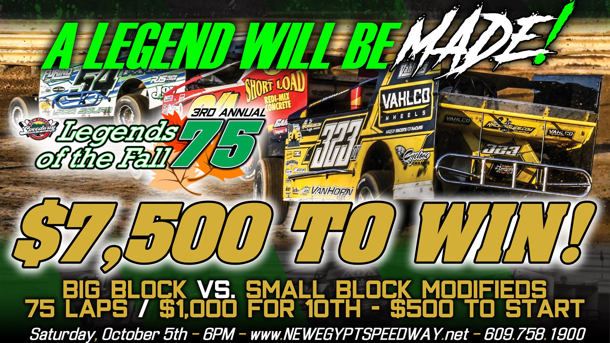 3rdAnnual Legends of the Fall 75 Contingency Bonuses Starting To Roll In; Entry Blanks Now Available